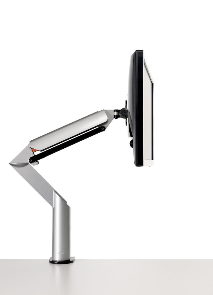 Sapper XYZ  2012 Monitor arm system Knoll  The Sapper XYZ monitor arm system allows for fluid movement of the monitor in all directions. Extending its motion range beyond the traditional X and Y axes, it allows movement across an infinite number of planes, permitting the user to adjust the monitor up and down, left and right, near and far, according to need.  Available to buy here