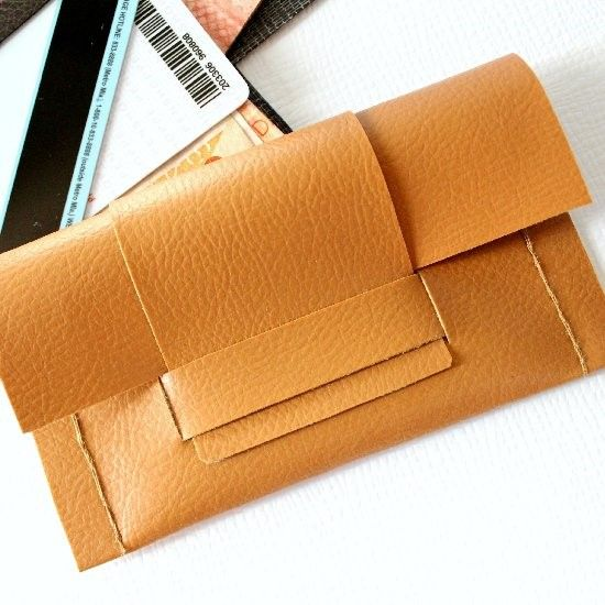 Make this credit card holder in 4 easy steps! You can hand stitch it or run it through a machine. Embellish it and make it more personal.