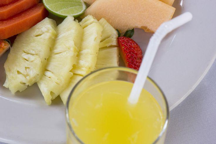 Desayuno en el Kiosco del Hotel Posada de Tampico.