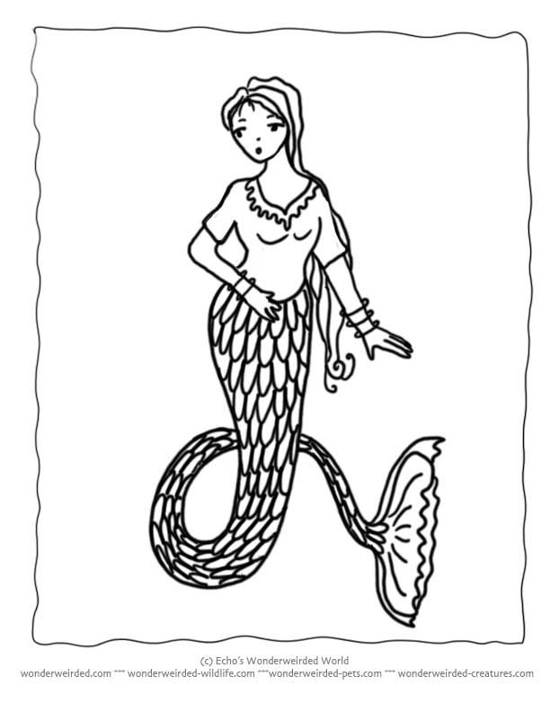 mermaid and seahorse coloring pages - photo#26