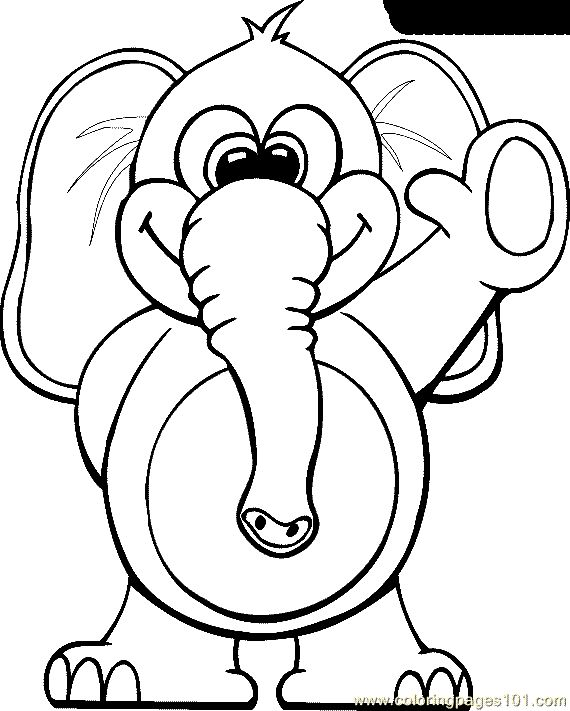 Coloring Elephant Color Page Animal Pages Plate Colori And Kids Book