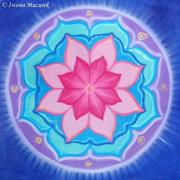 Mandala Osobisty Talizman Eli - malowana na zamówienie