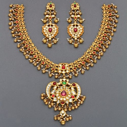 Mangatrai's Latest Tussi Necklaces - Jewellery Designs