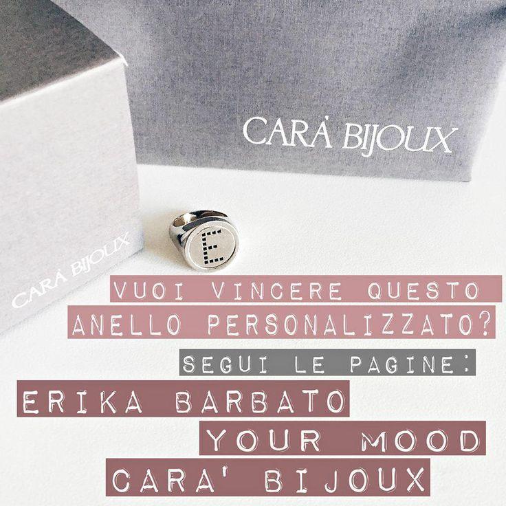 Vuoi vincere questo anello personalizzabile con lettera? Manda un'email a marketingcarabijoux@gmail.com x info.
