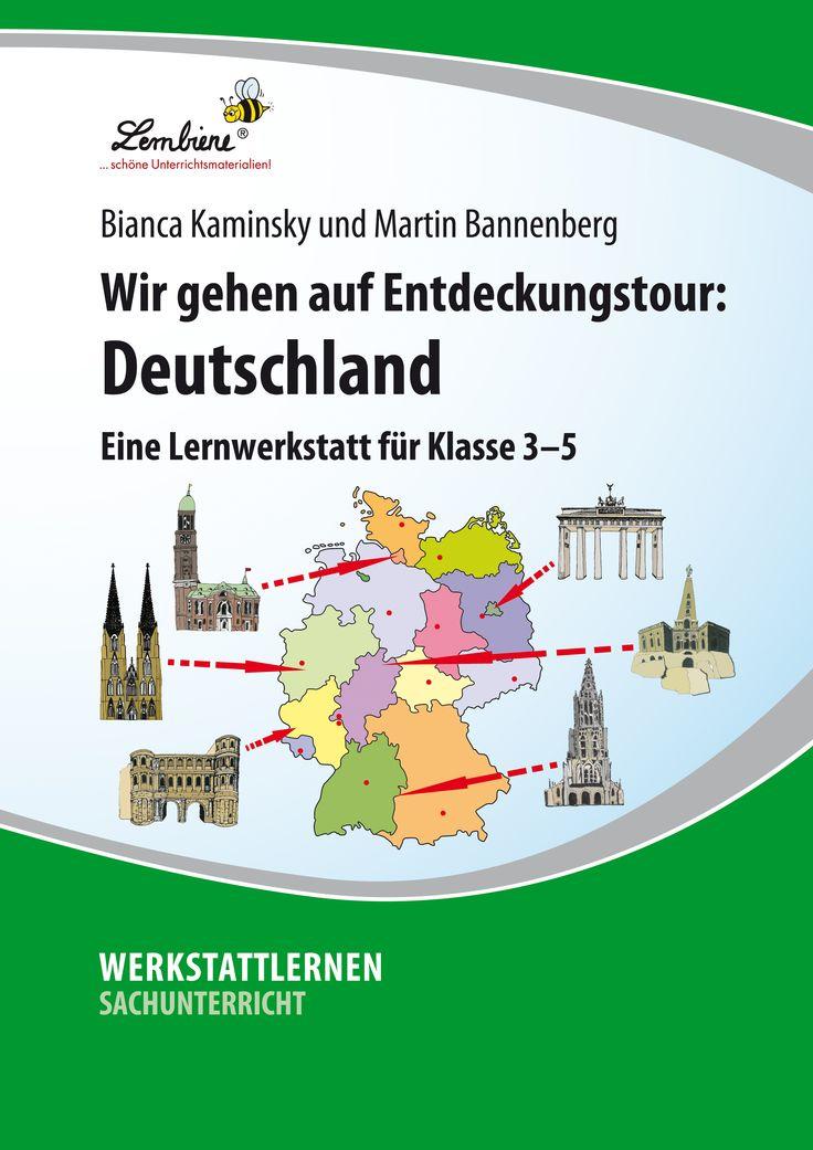 Was wissen deine Schüler über Deutschland? Unsere Werkstatt bietet den Kindern abwechslungsreiche Stationen, an denen sie ihr Allgemeinwissen über Deutschland spielerisch ausbauen können. Dabei widmen sie sich Fragen wie: Wo fließt der Rhein? Wie viele Einwohner hat Bayern? Was ist Demokratie? Wie sieht das deutsche Wappen aus? Lasse deine Schüler zu Entdeckern im eigenen Land werden! #Lernbiene #Grundschule #Unterrichtsmaterial #Sachunterricht #Sekundarstufe #Geografie #Geschichte #Kultur