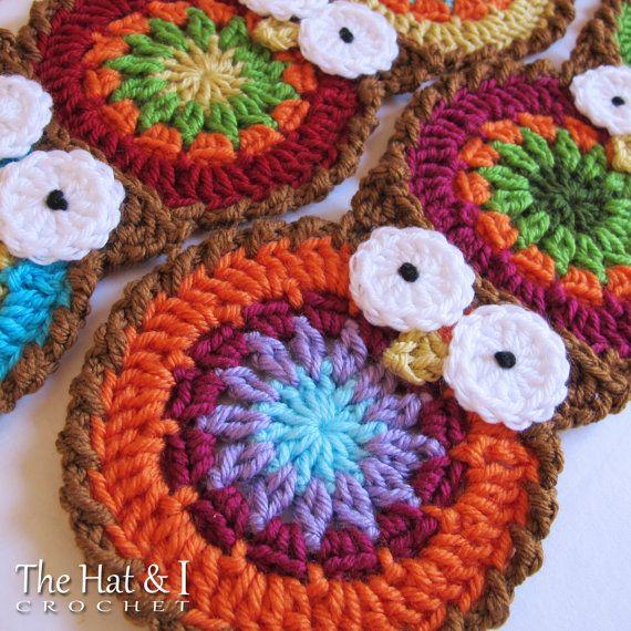 Crochet patrones B HOO UR bufanda un patrón de por TheHatandI