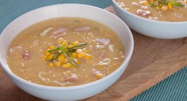Warm up your winter afternoons with a trusty bowl of homemade Chicken & Corn Soup.  #soup #winterwarmer #recipe