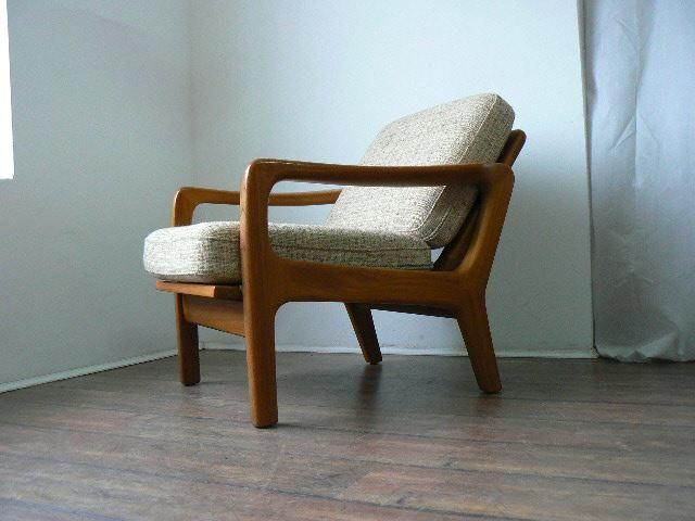 Dänischer Vintage Teakholz Lounge Stuhl von Juul Kristensen 1