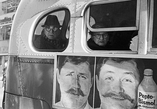 Passengers on a bus.New York, 1963.  ByThomas Hoepker