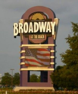 Main Broadway At The Beach Sign
