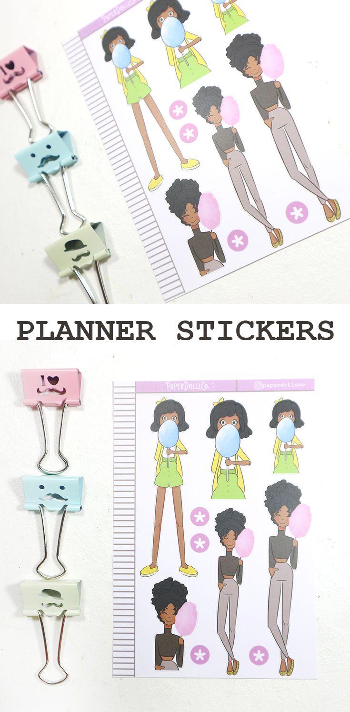 Carnival Fashion Planner Girl Stickers for Erin Condren | Mambi Happy Planner | Blitsy | Carpe Diem | Foxyfix | Filofax | TN | Travelers Notedbook | Mini Happy Planner
