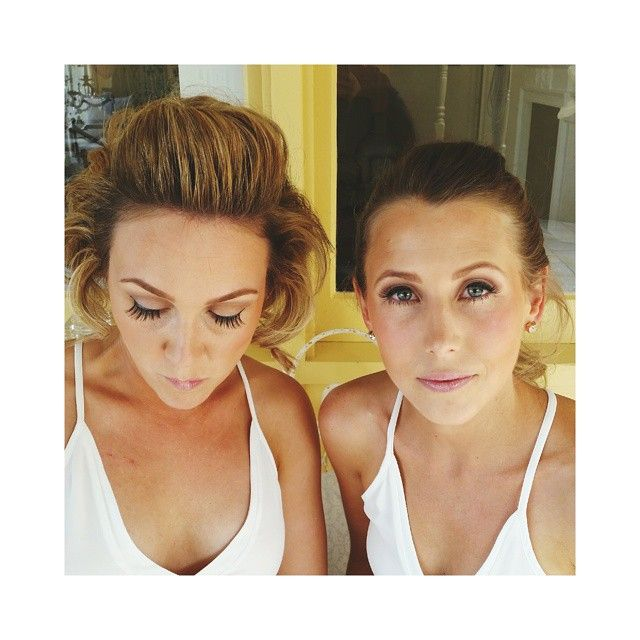 """""""Two absolutely stunning #bridesmaids from todays #wedding at @clydeparkwines ... #makeup #cosmetics #love #hairstylist #mua #hair #babe #model #wedding…"""" make up by @ashleadysonstyling"""