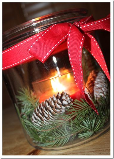 Christmas decor - Janet here is something you can do with your little pine comes.