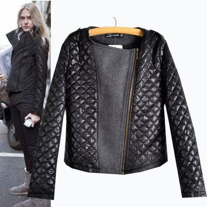 >> Click to Buy << Hot New Women Autumn and Winter Quilting Cotton Plaid Clip stitching diagonal Zipper Argyle Jacket Cheap Sale #Affiliate