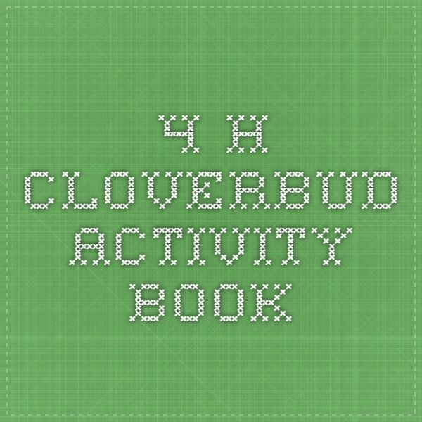 4-H Cloverbud Activity Book