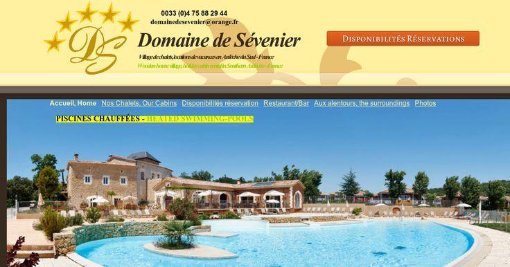 Village de chalets, location de vacances en Ardèche du sud, France
