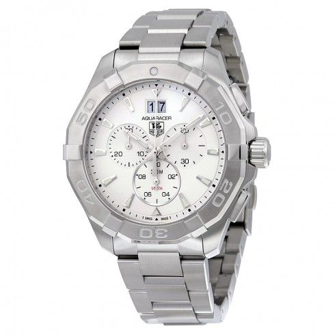 Tag Heuer Aquaracer Chronograph Silver Dial Stainless Steel Men's Watch CAY1111.BA0927