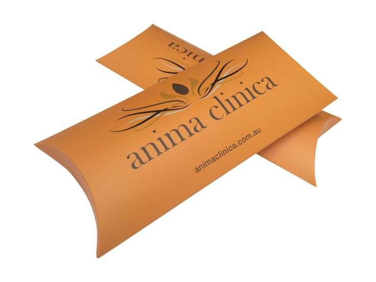 Flat pack branded gift boxes. Pillow boxes - custom printed. Retail supplies