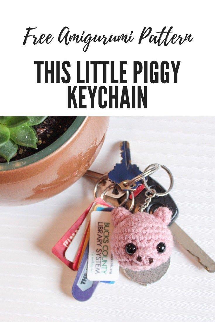 Amigurumi pig free pattern | Crochet pig, Crochet jewelry, Crochet ... | 1102x735