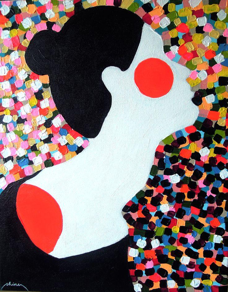shine / acrylic on canvas / 50 x 40cm