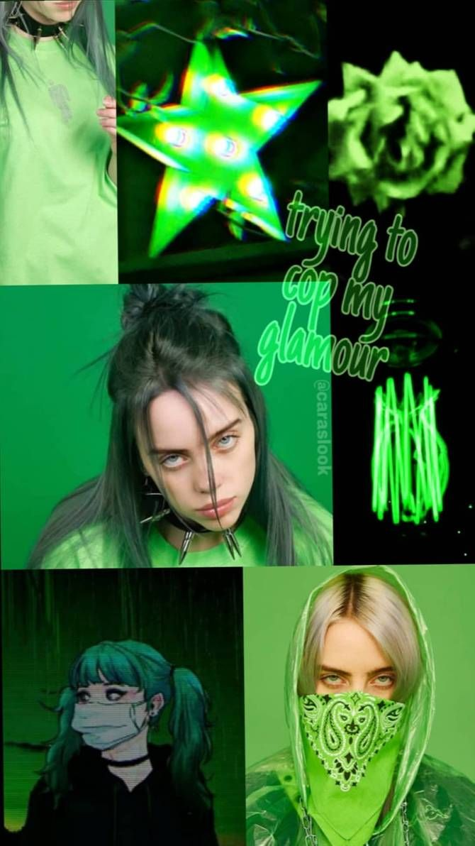 Aesthetic Wallpaper Billie Eilish In 2020 With Images Green