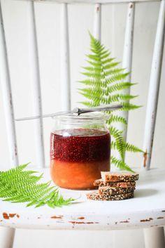 Rezept Pfirsich Melba Marmelade Peach Melba Jam Schichtkonfitüre Sommer im Glas Post aus meiner Kueche zuckerzimtundliebe einfaches Marmeladenrezept