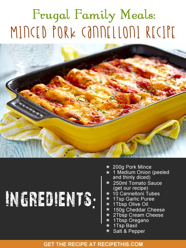 Pork mince cannelloni recipes nz