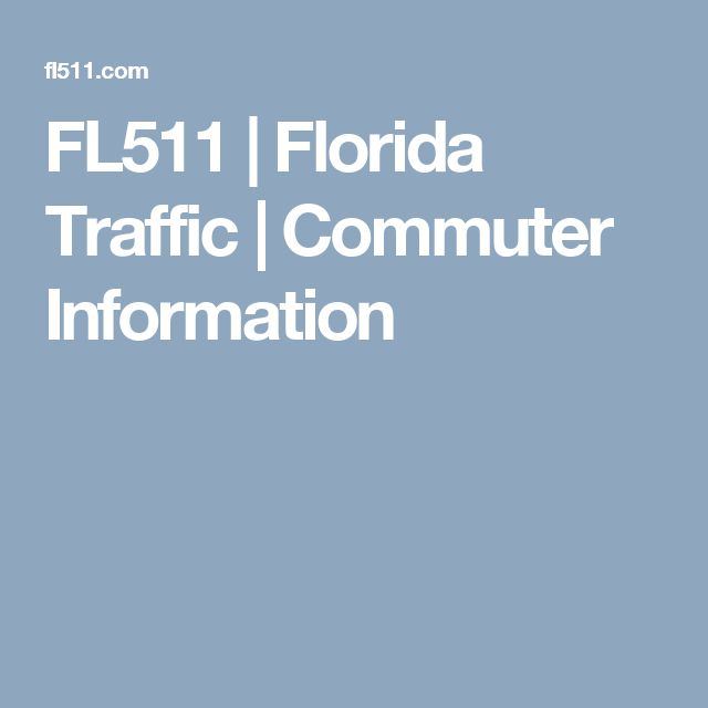 FL511         | Florida Traffic | Commuter Information