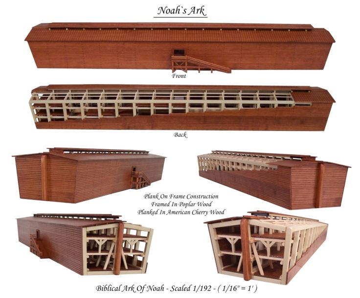 Biblical Ark Of Noah Scaled 1/192