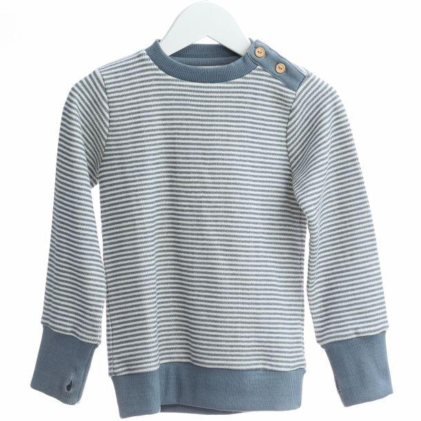 Lys blå/hvid stribet trøje 4-5 Y (110cm)