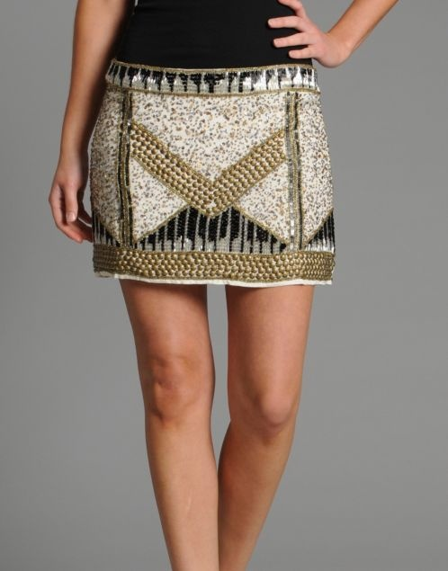 BANK Fashion - Red or DeadPearly Sequin Skirt