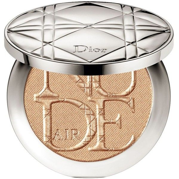 Dior DIORSKIN NUDE AIR LUMINIZER POWDER Shimmering Sculpting Powder ($56) ❤ liked on Polyvore featuring beauty products, makeup, face makeup, face powder, bronzed glow and christian dior