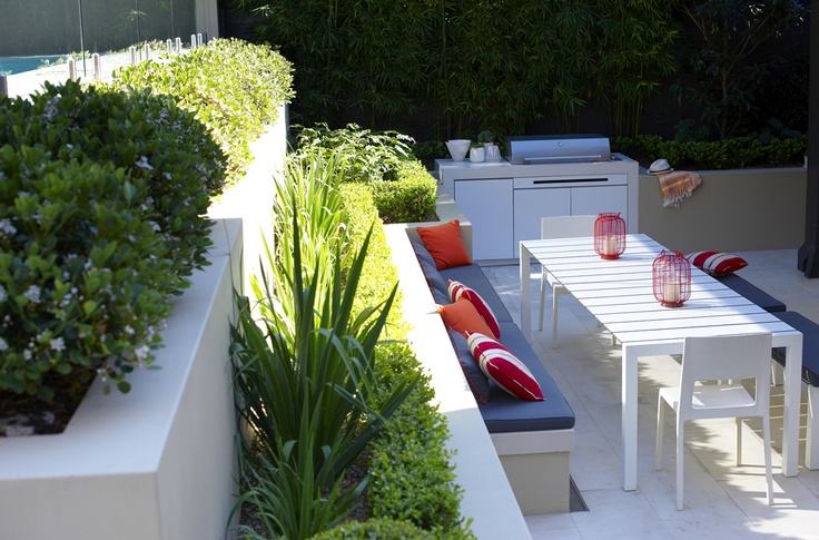 Outdoor Rooms - Secret Gardens of Sydney showing contemporary raised beds