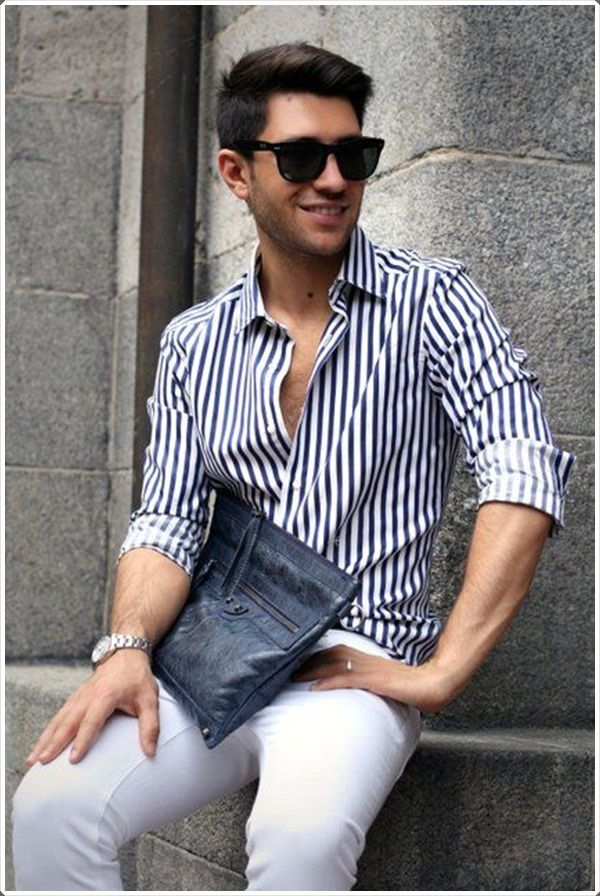 9df0492c3960 40 Evergreen Vertical Striped Shirt Outfits For Men | Life Style ...