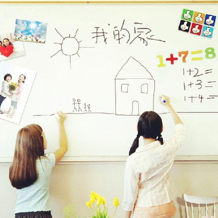 pvc whiteboard sticker creative message diy white board stickers stationary memo children gift wall sticker 60