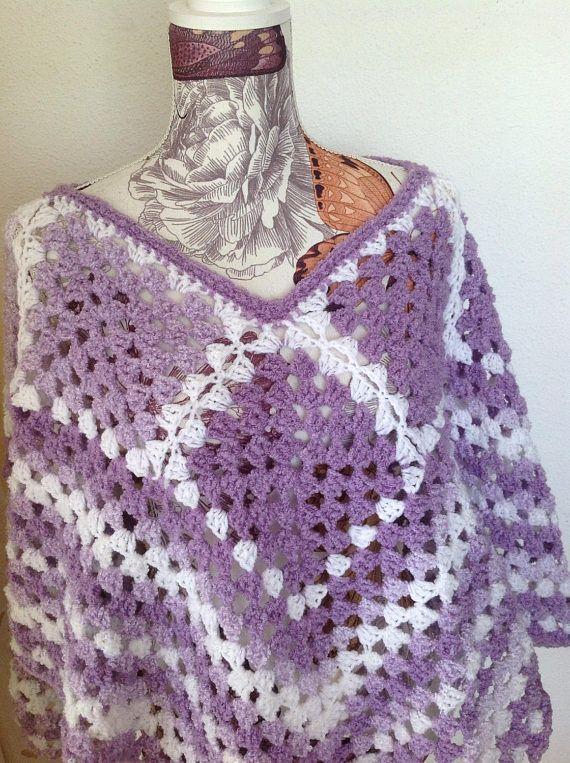 Poncho de crochet