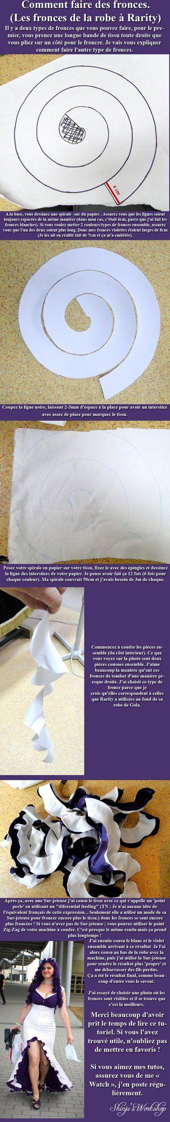Comment faire des fronces (de la robe de Rarity) by ShinjusWorkshop on deviantART | followpics.co