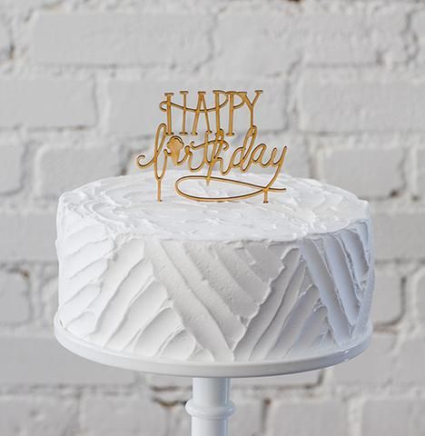 Birthdays are a little brighter with our fun birthday cake topper. • Reusable, just hand wash with warm water and soap • Lasercut from baltic birch • Food safe • Made in the USA