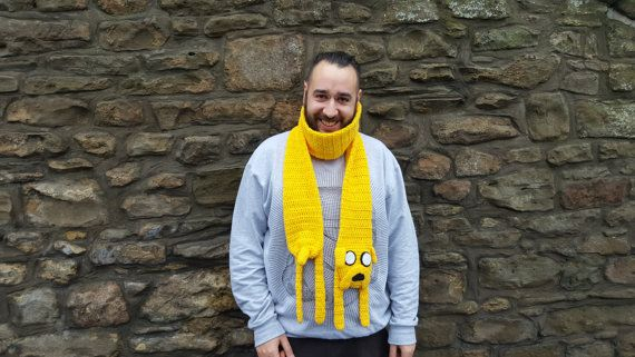 Jake the Dog Scarf magic novelty cosplay adventure time by ThePeaGreenBoatShop