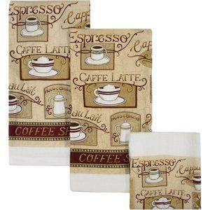 Amazon Com House Blend Cafe Latte Dish Towels Cloths Set Of 6 Kitchen Themeskitchen