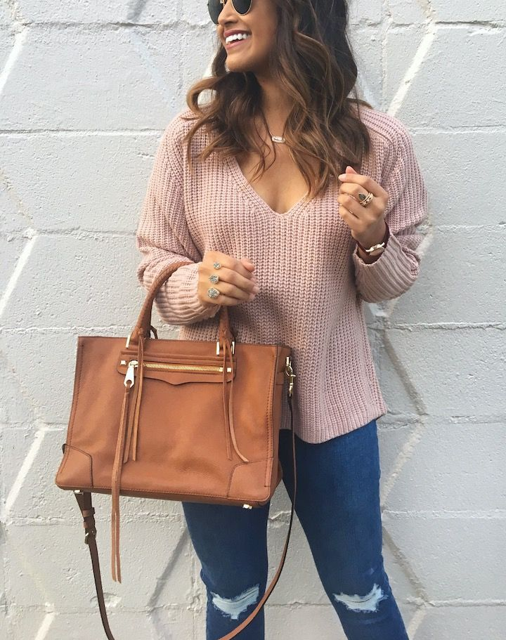 haute off the rack, women's fashion, rebecca minkoff regan satchel, women's handbag, tan handbag, everyday style, fall style, casual style, fall outfit, kendra scott jewelry