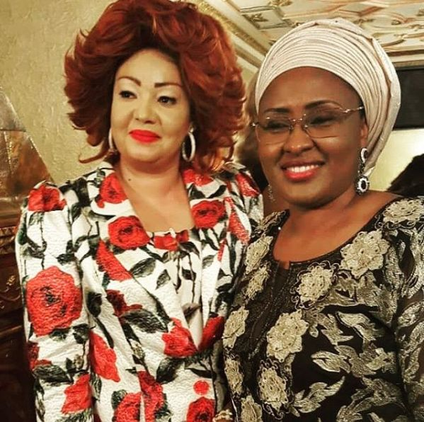 Aisha Buhari Pictured With Cameroon's First Lady Chantal Biya In NY