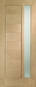 Modena Oak 1 Light External Door #glazeddoors