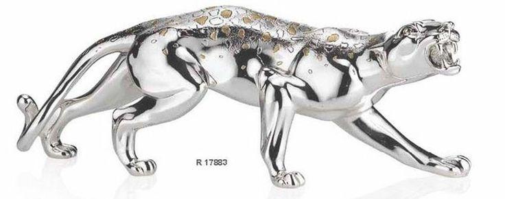 Piękna srebrna figurka Pantery stanowi doskonały prezent z okazji urodzin. #dla_kobiety #dla_mezczyzny #rdla_szefa