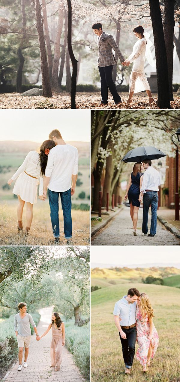 A Sweet Date! 25 Cute and Romantic Engagement Photo Ideas - A Walk in The Park