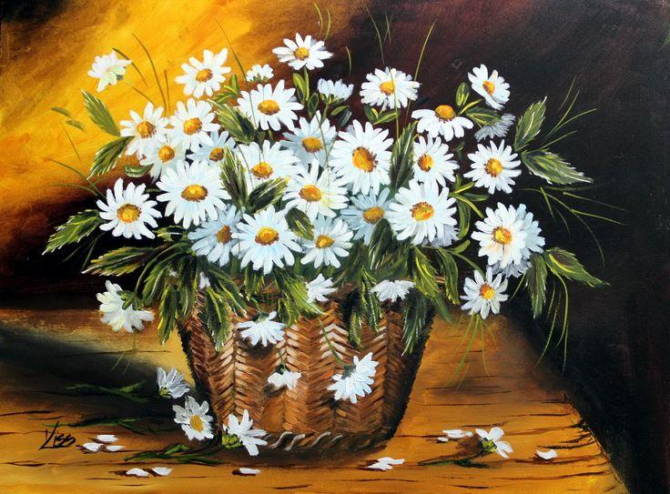 Egy kosár virág. olaj, farost, 30x40
