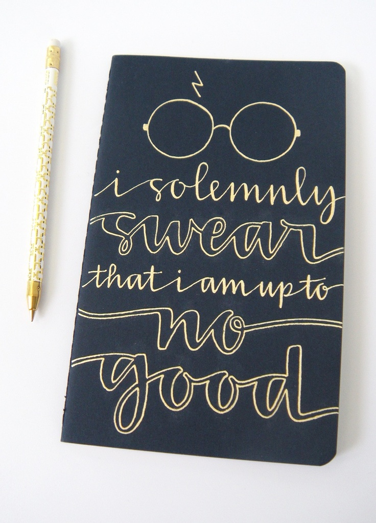 """Aw, I love making people happy with my work. Sweet pen, too. // """"Just bought this HP notebook for myself!"""" LOVE THIS SCRIPT!"""