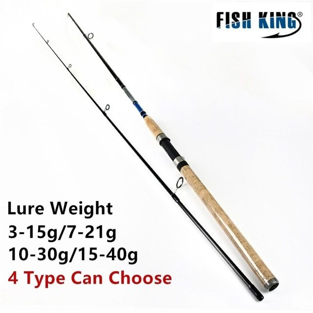 Fish King Wood Handle Sea Fishing Spinning Rod 2 4m 2 7m 2 Section Ultra Light Carbon Fiber Saltwater Spinning Fishing Rod Pole Spinning Rods Fish Carbon Fiber