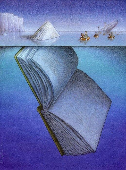 La lectura nos salva de los naufragios interiores (ilustración de Pawel Kuczynski)