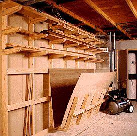 Vertical lumber storage rack plans woodworking projects for Vertical lumber storage rack